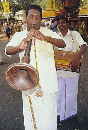 Temple musicians